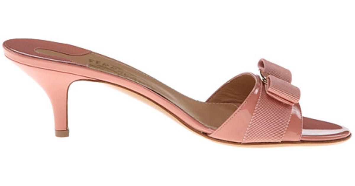 bb2a352687 Ferragamo Glory 1 in Pink - Lyst