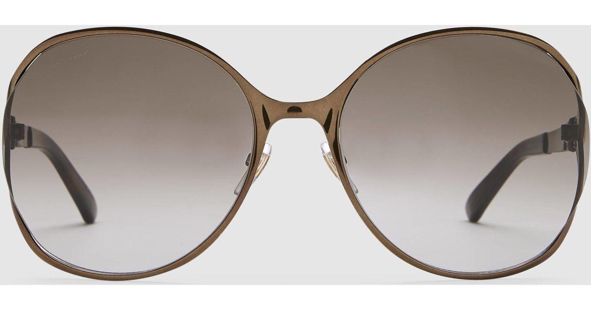 e7cae994447 Gucci Round Frame Metal Sunglasses