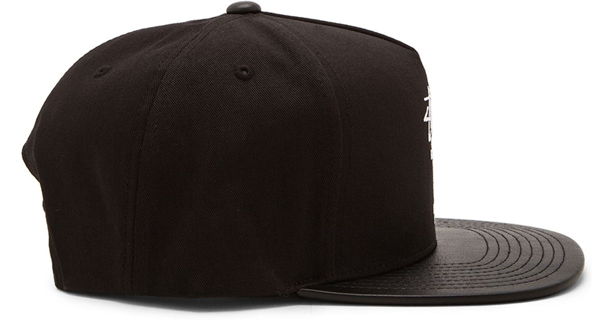 f88d4f967 Stussy - Black World Tour Snapback for Men - Lyst