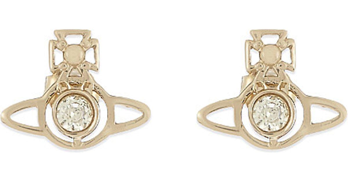 33a184ebe Lyst - Vivienne Westwood Nora Stud Earrings