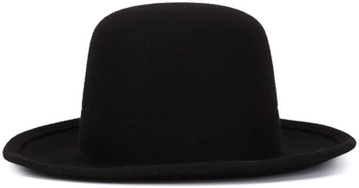 Lyst - Scha Wide Brim Bowler Hat in Black for Men 003a42c2e7a