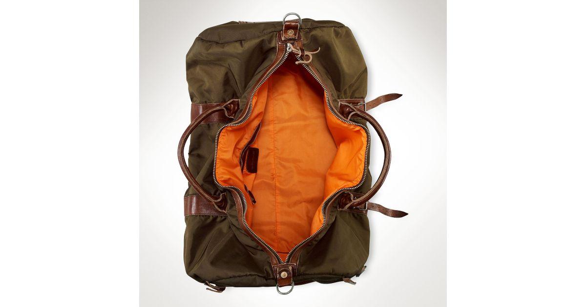 ... half off a749d 07868 Polo Ralph Lauren Nylon Duffel Bag in Green for Men  - Lyst ... f04709037b