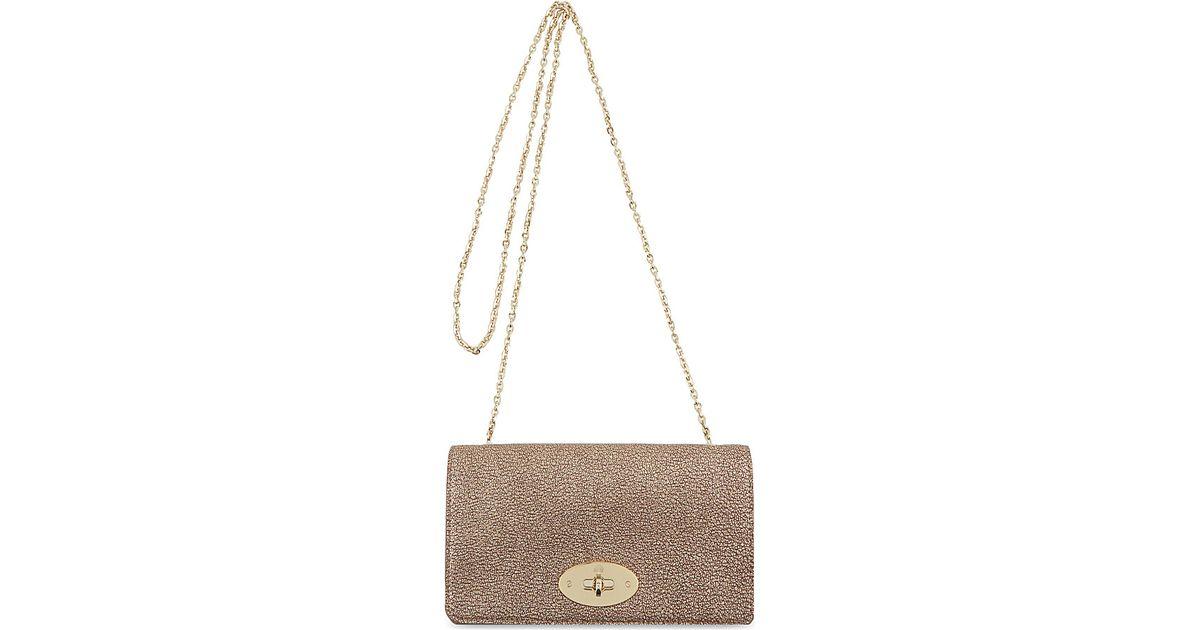 13e71e5a01 Mulberry Bayswater Metallic Clutch Bag Wallet - For Women in Metallic - Lyst