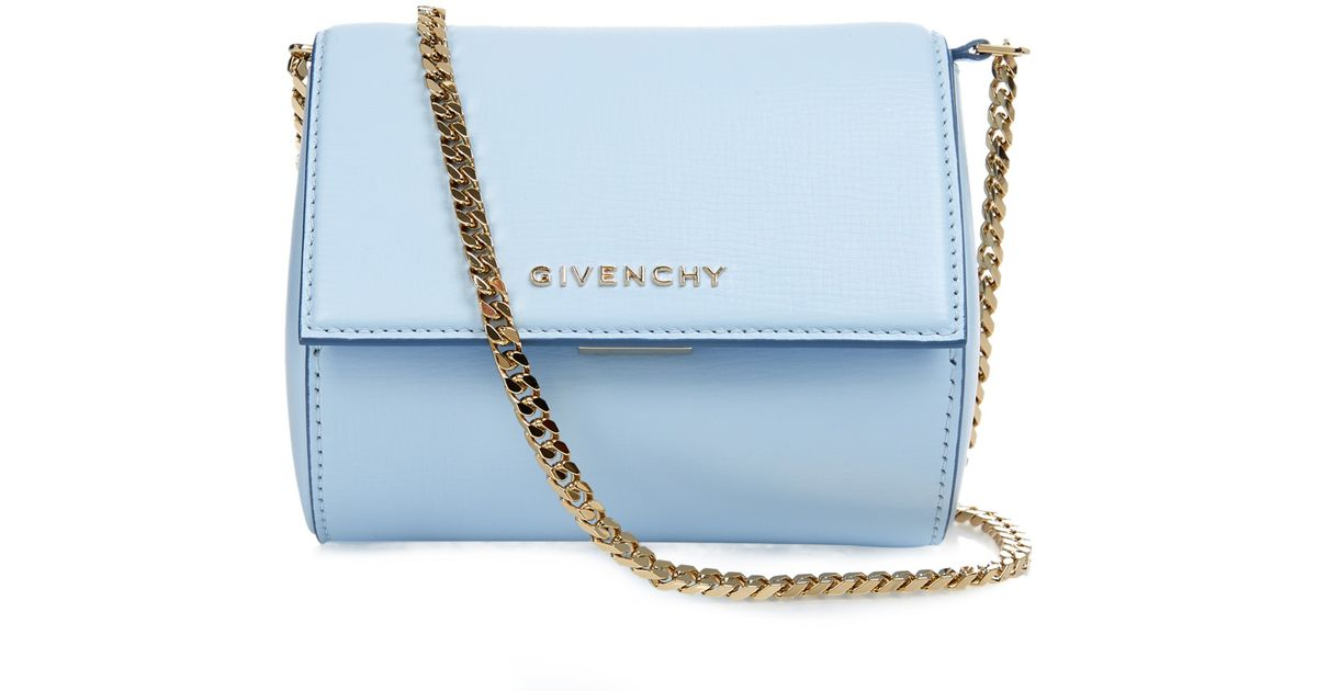 7a29459d5c95 Lyst - Givenchy Pandora Box Leather Cross-Body Bag in Blue