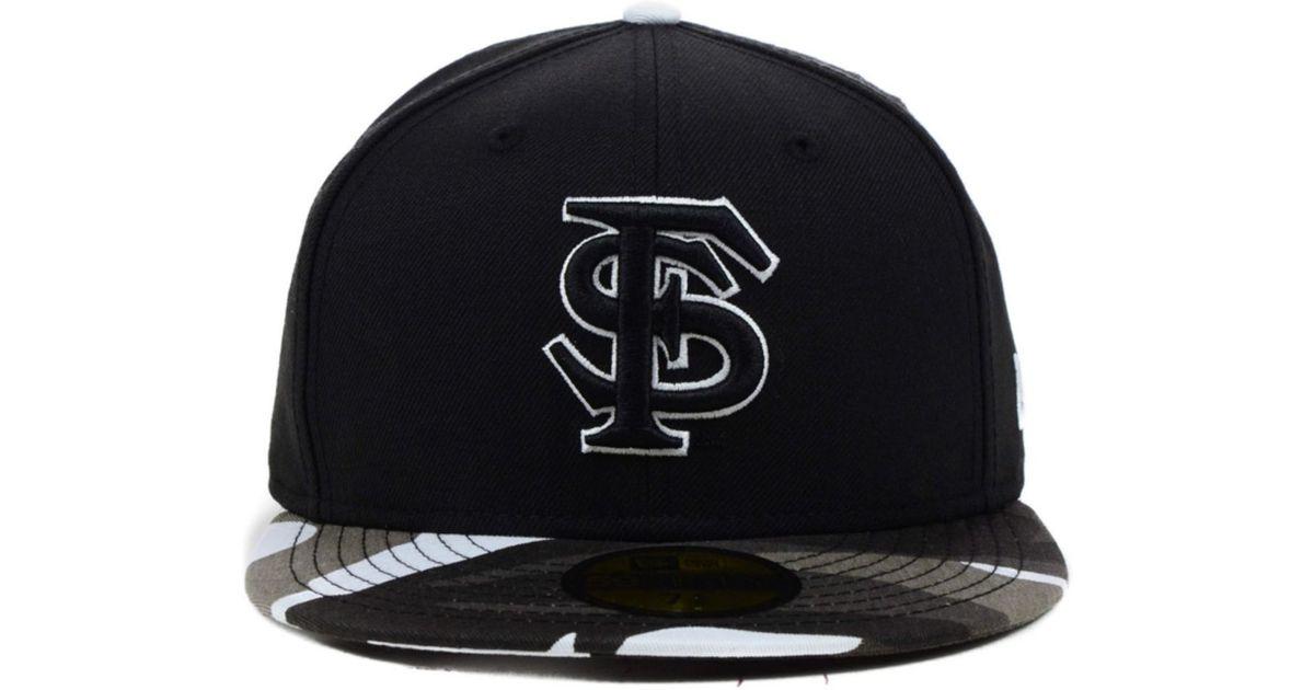 more photos 5d504 84645 KTZ Florida State Seminoles Ncaa Urban Camo 59fifty Cap in Black for Men -  Lyst