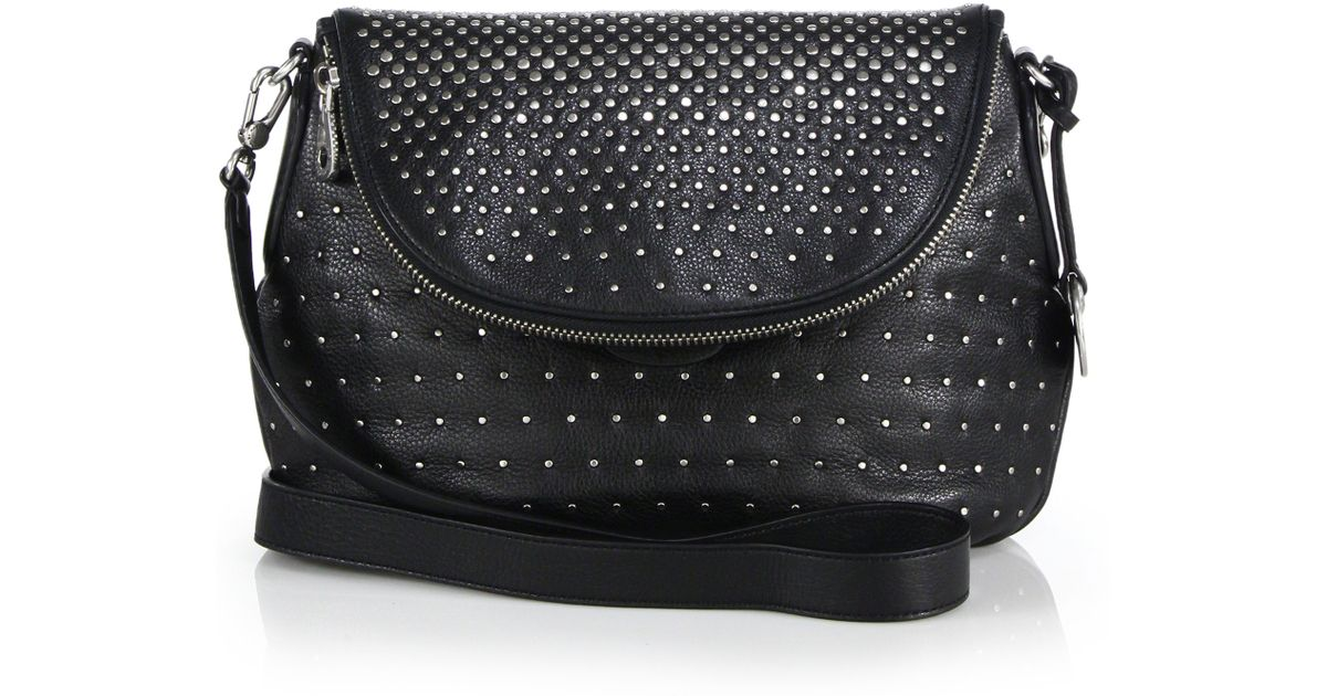 Lyst - Marc By Marc Jacobs Natasha Studded Leather Crossbody Bag in Black