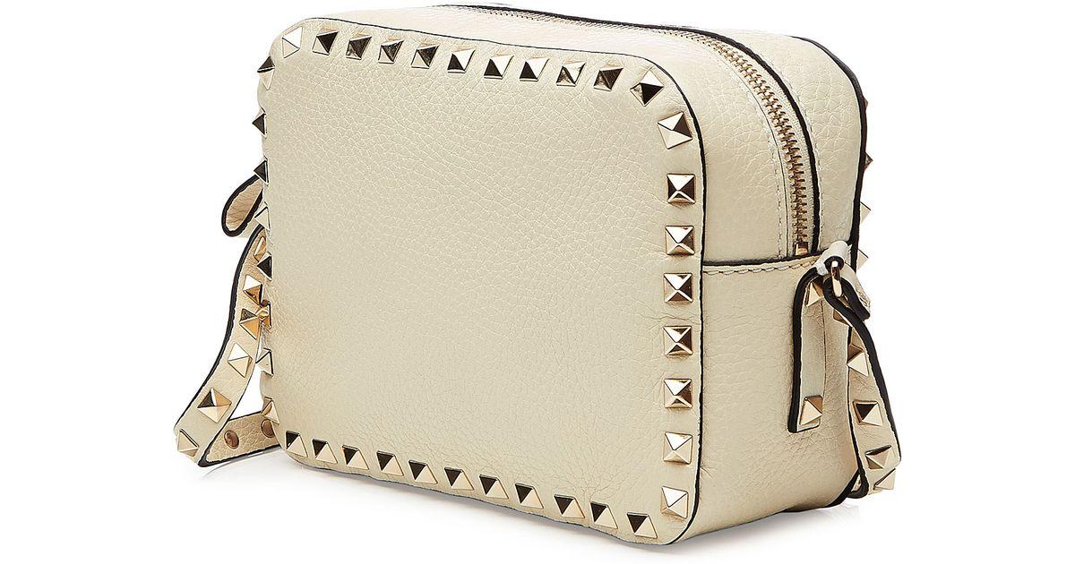 3f588fc21162 Lyst - Valentino Leather Rockstud Camera Bag - White in White