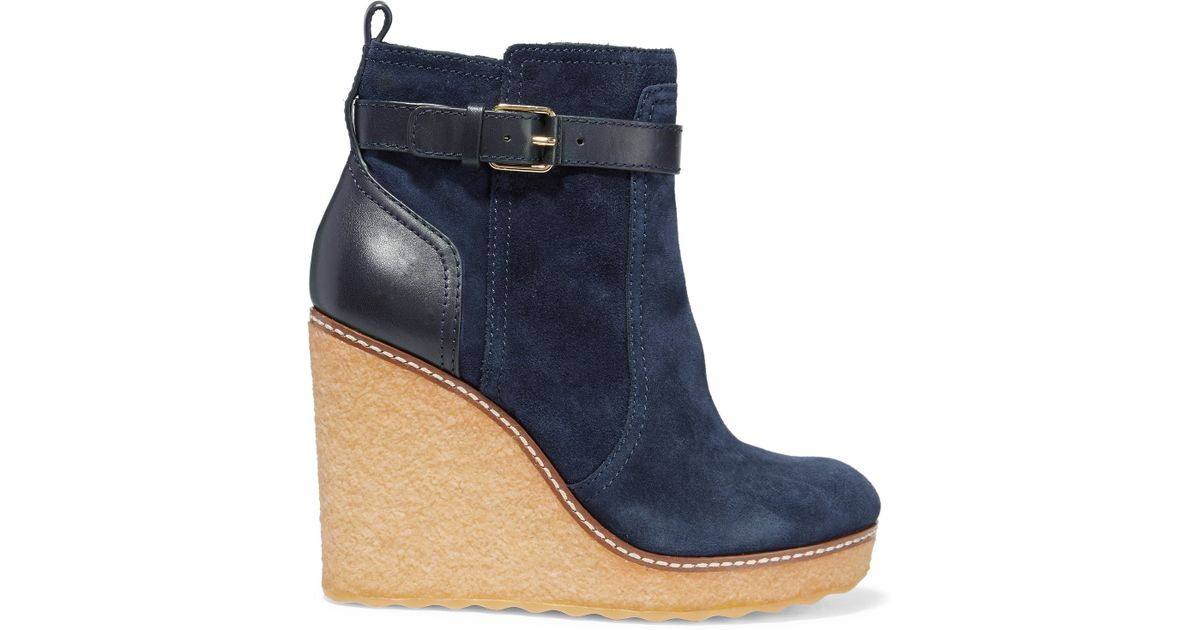 footaction Tory Burch Suede Wedge Ankle Boots clearance explore outlet for nice clearance find great clearance shop offer JqlYrMsZL