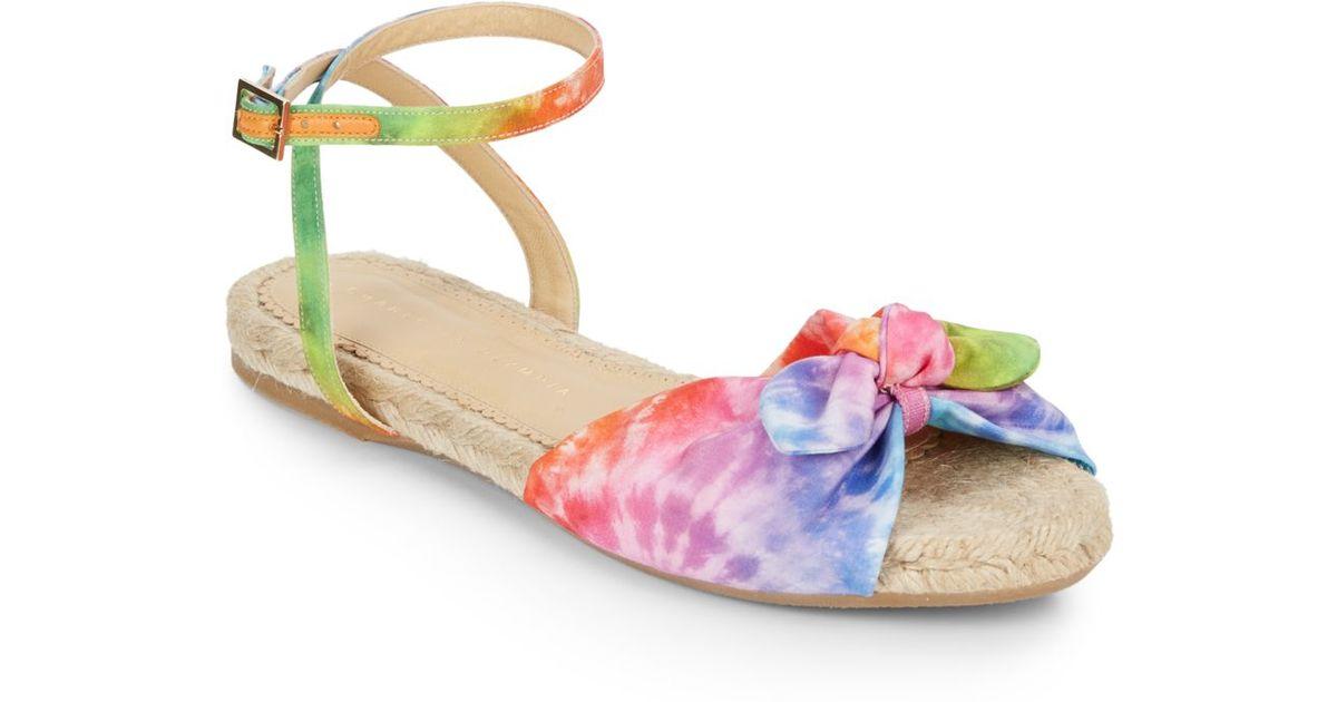 d0cc9f194592 Lyst charlotte olympia tie dye espadrille sandals in pink jpg 1200x630 Tie  dye sandals