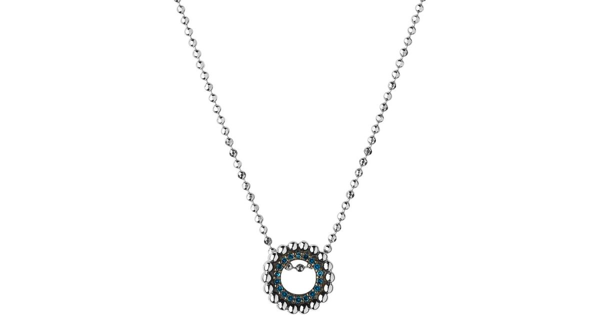 Effervescence Blue Diamond Necklace