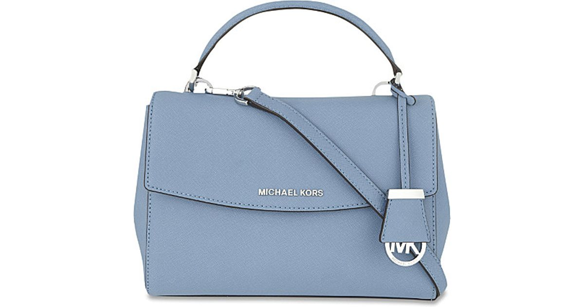... purchase bag pale huge selection of 98b34 4662e lyst michael michael  kors ava small saffiano leather da634f76ea4bf