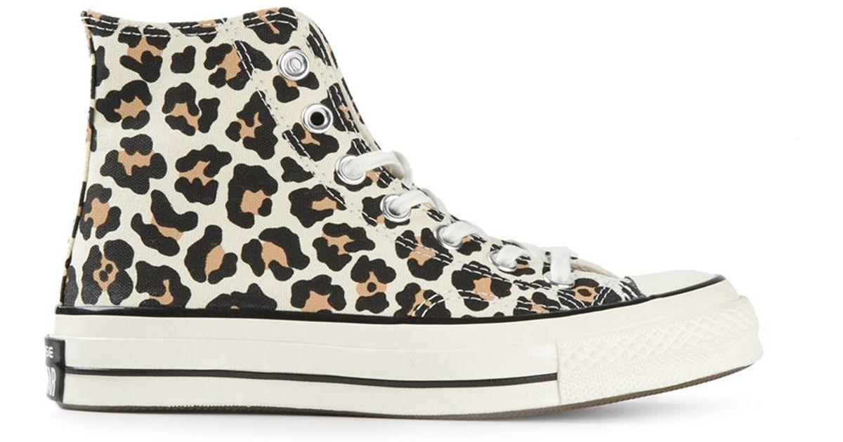 style de la mode de 2019 sur des pieds à grosses soldes Converse Brown 'Chuck Taylor' Leopard Print Sneakers
