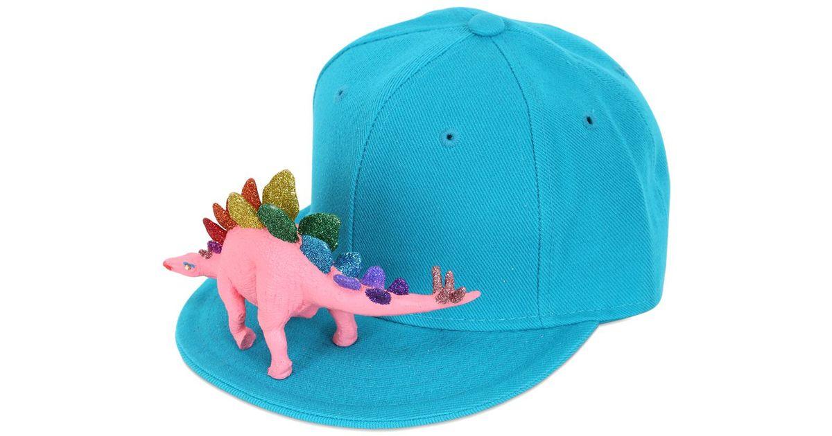 920a6206ed18b Piers Atkinson Rainbow Dinosaur Baseball Hat in Blue for Men - Lyst
