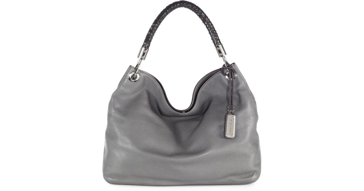 f5e87a4b99dc ... Michael kors Skorpios Large Hobo Bag in Gray Lyst ...