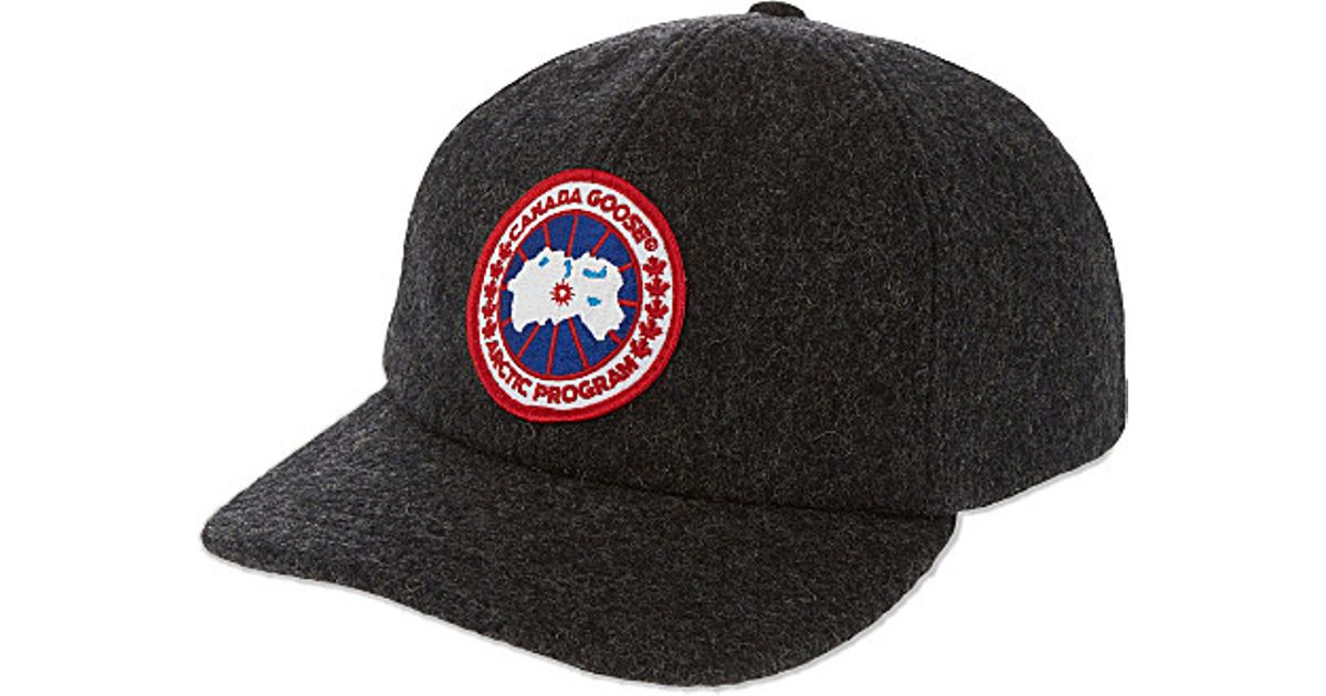 a037668b374 ... Canada Goose langford parka online authentic - Canada goose Merino Wool  Baseball Cap in Gray for ...