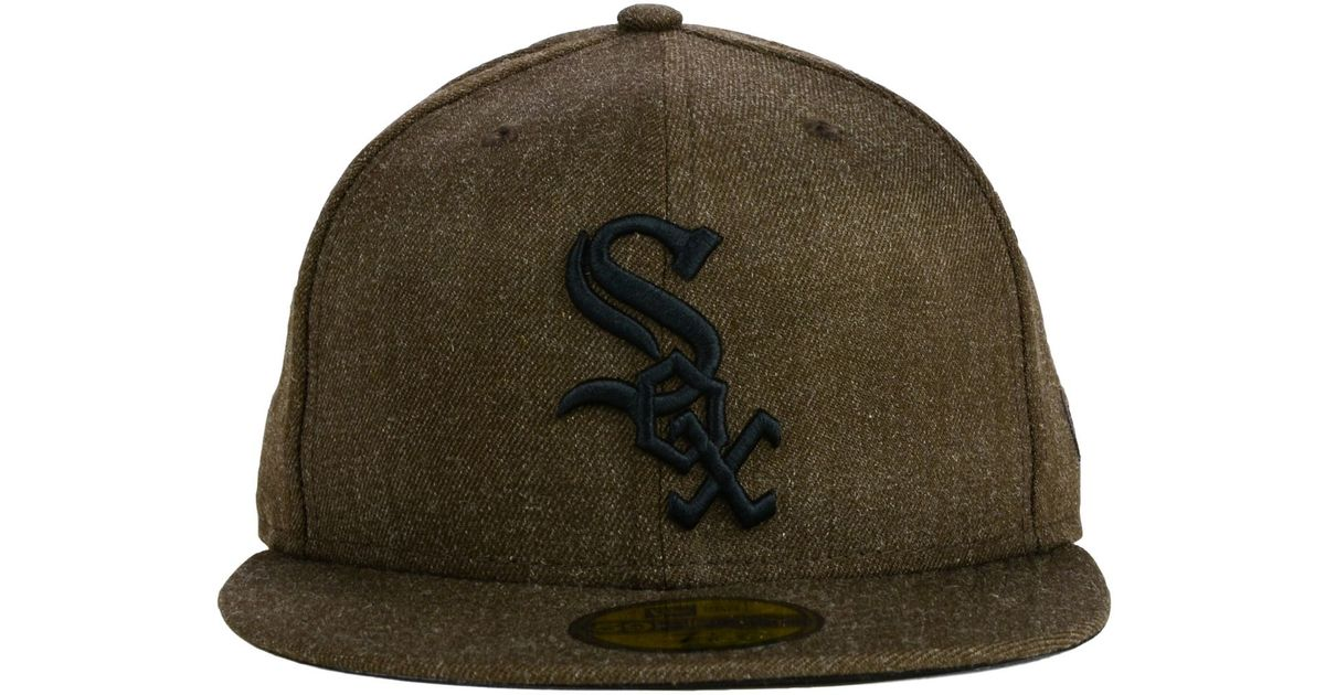 ac056d295558c2 uk lyst ktz chicago white sox all brownie 59fifty cap in brown for men  6df97 0f95d