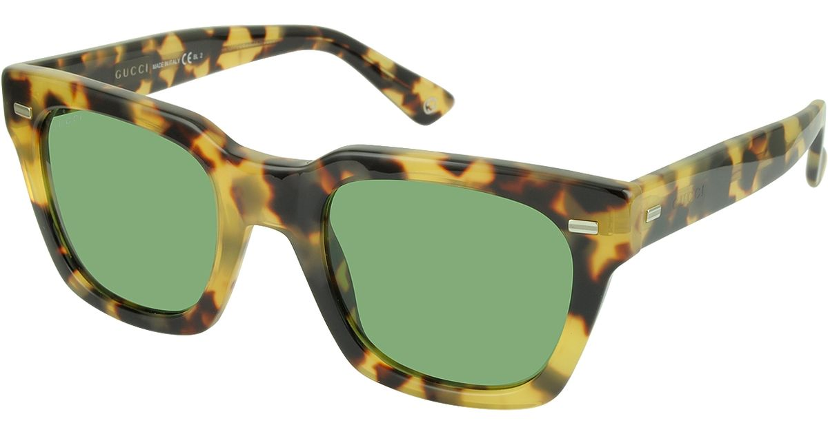 3a572a754a Gucci Gg 1099 s 00fdj Havana Acetate Square Frame Sunglasses in Green for  Men - Lyst