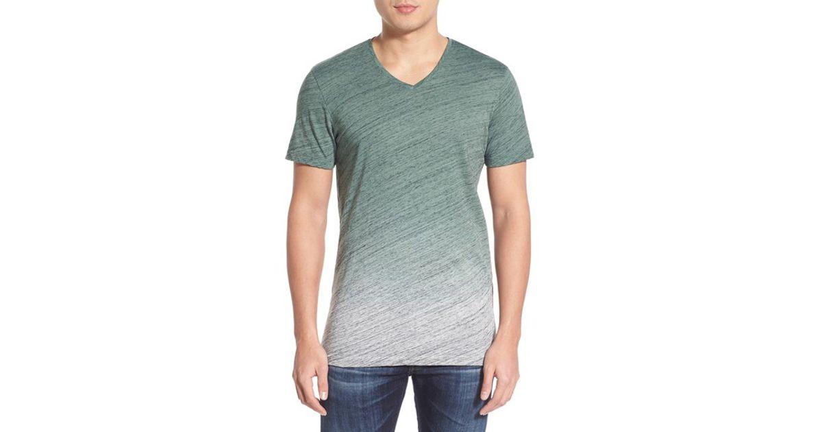 Michael stars ombre v neck t shirt for men lyst for Michael stars tee shirts