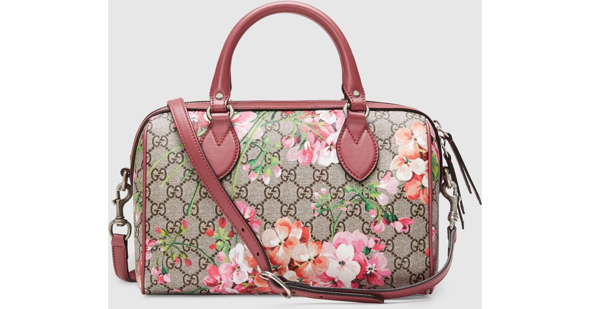 1f3065e4d2fd Gucci Blooms Gg Supreme Top Handle Bag in Purple - Lyst