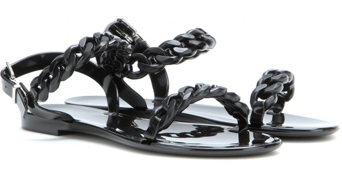 Givenchy Lyst In Jelly Flat Sandals Black UqSVpGMz