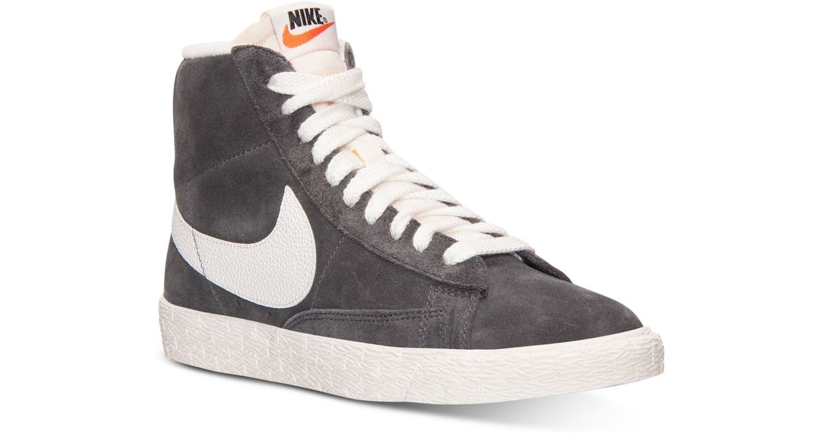 1933f328b280 Lyst - Nike Women S Blazer Mid Suede Vintage Casual Sneakers From Finish  Line in Gray