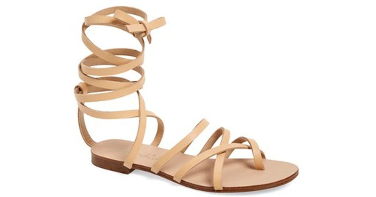 023cf9d92 Lyst - Splendid  carly  Ankle Strap Sandal in Natural