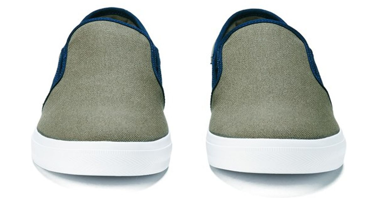 5b30baedaf4a Lyst - Lacoste Men S Gazon Sport Sep Canvas Slip On Trainers in Brown for  Men