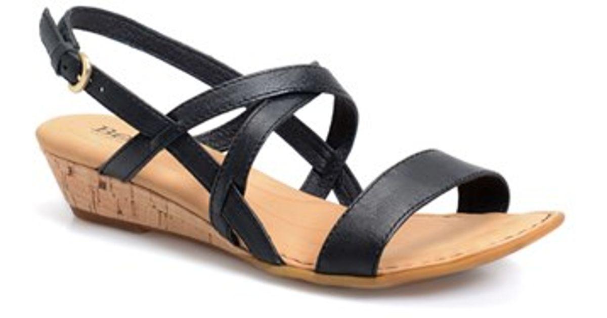 f1211dfe27 Born 'porta' Low Wedge Sandal in Black - Lyst