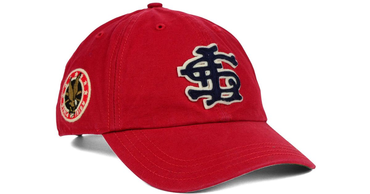 9bdaf8fb12a57 Lyst - 47 Brand St. Louis Cardinals Baseball United Clean Up Cap in Red for  Men