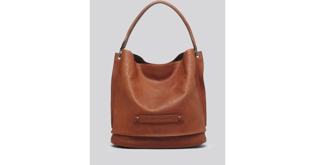 Longchamp Hobo Laukku : Longchamp hobo d in brown lyst