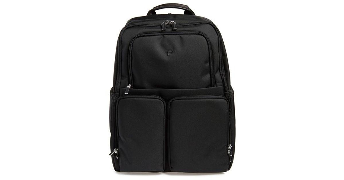 porsche design 39 roadster 3 0 39 backpack in black for men lyst. Black Bedroom Furniture Sets. Home Design Ideas