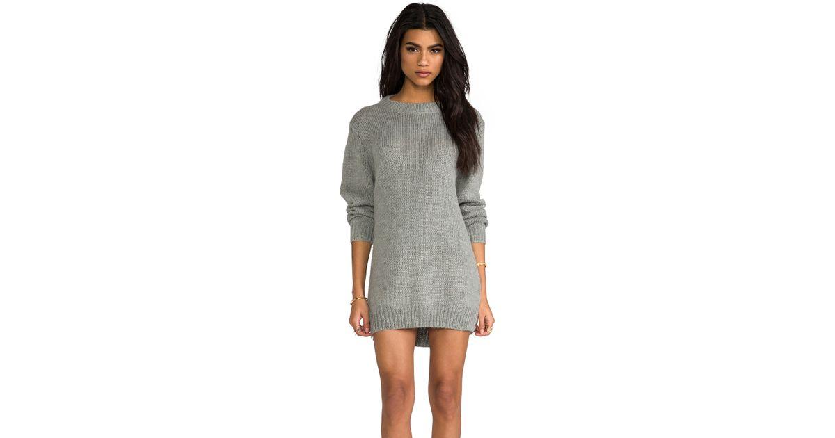 7381ba267f7 Lyst - Cheap Monday Oregon Sweater Dress in Gray in Gray