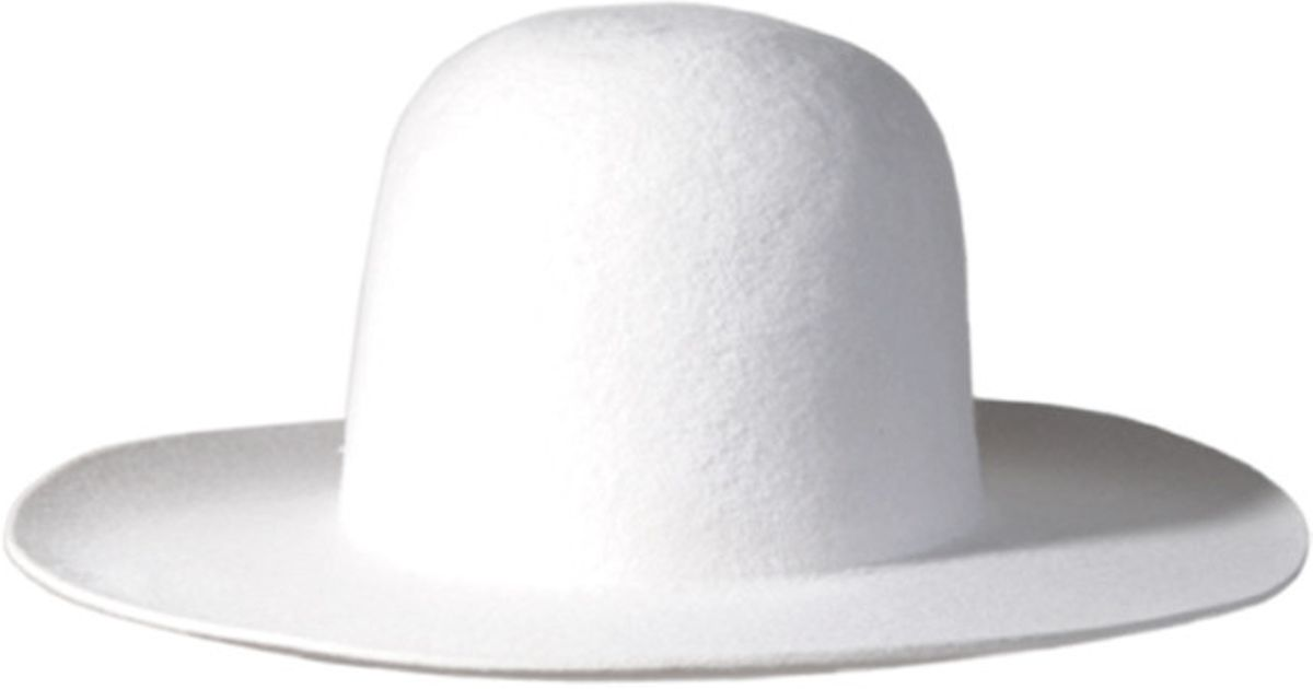 Lyst - Westerlind Felt Wide Brimmed Hat - White in White 2369eb2d401