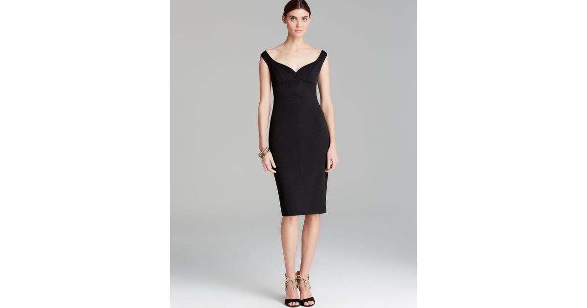 Lyst Black Halo Dress Ally Sweetheart Neckline Sheath In Black