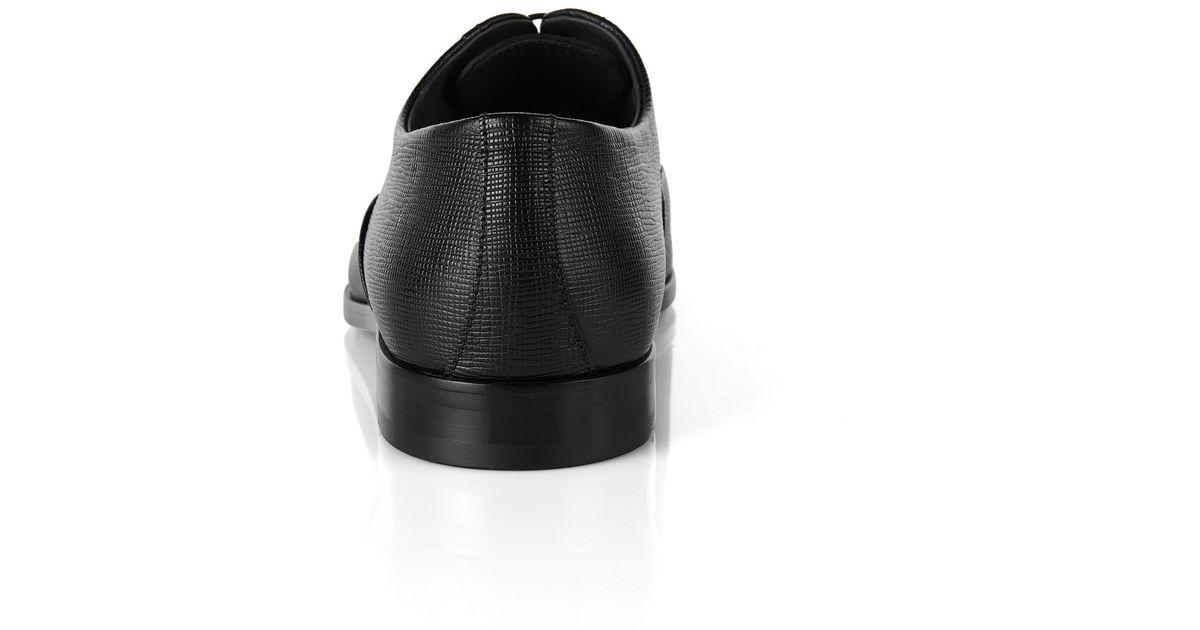 Lyst Boss Eveprin Italian Leather Oxford Dress Shoes In Black