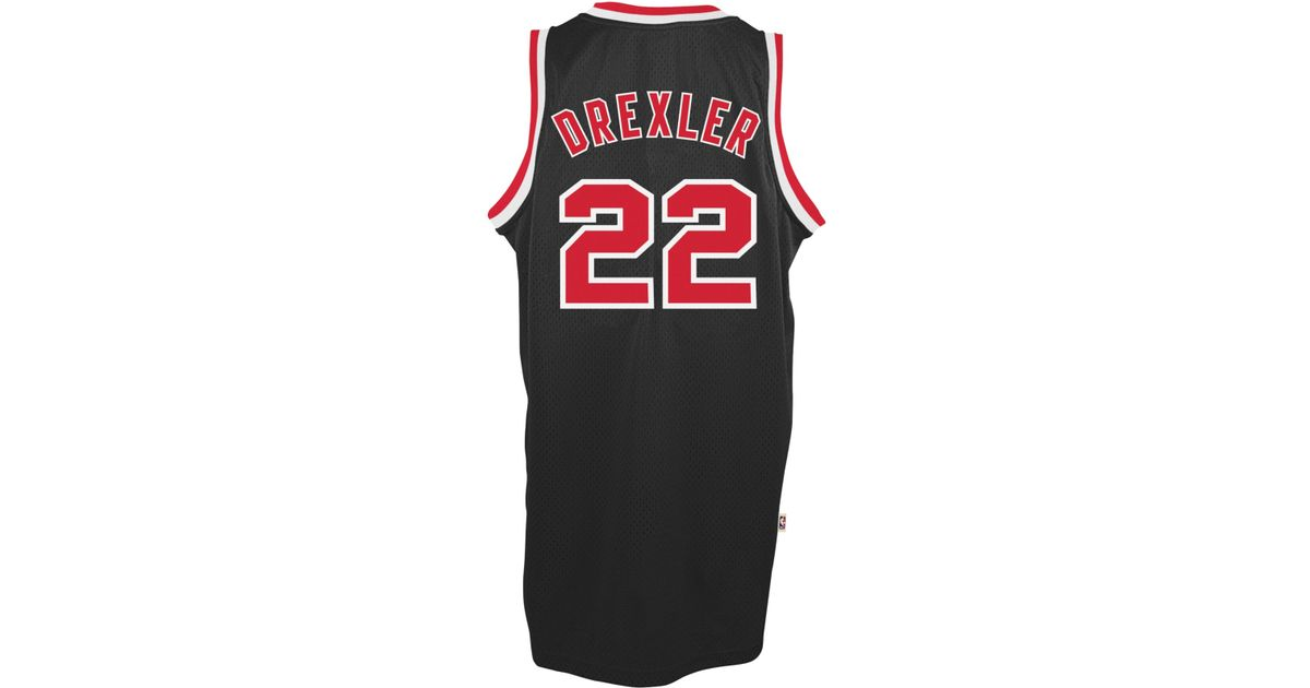 536ebbb73d92 Lyst - adidas Men s Clyde Drexler Portland Trail Blazers Swingman Jersey in  Black for Men