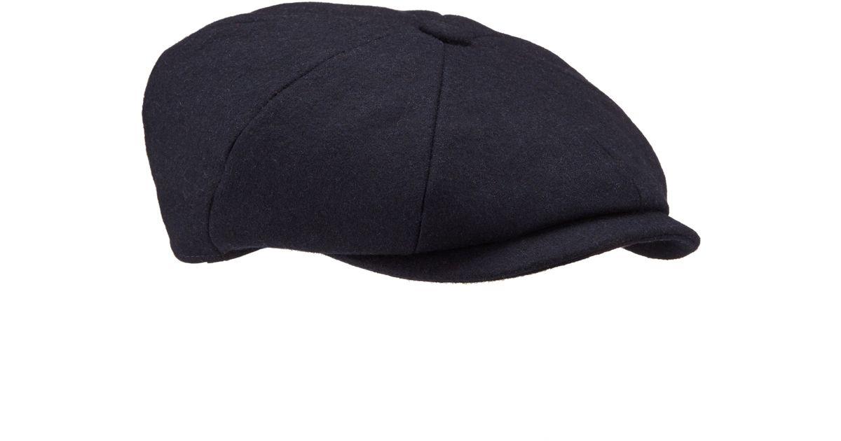 John Lewis Melton Baker Boy Hat in Blue for Men - Lyst 0b857cc6aba