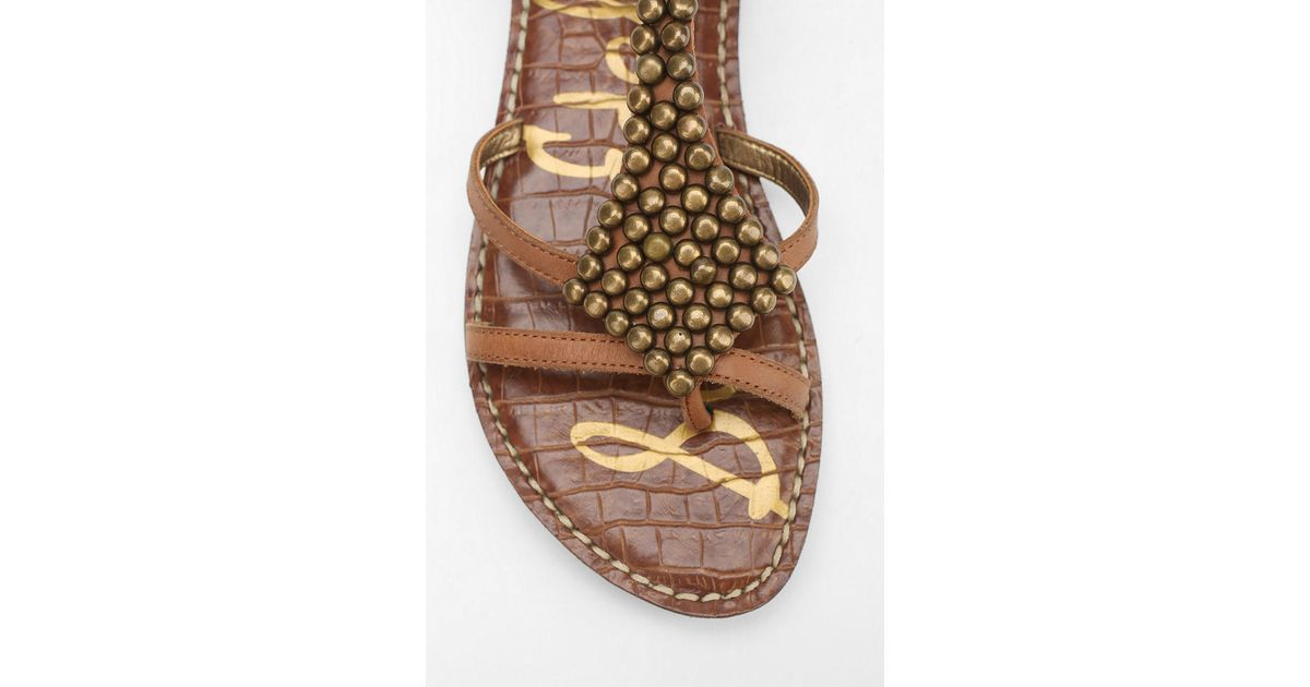 ca4eb583d26b1b Sam Edelman Ginger Sandal in Brown - Lyst