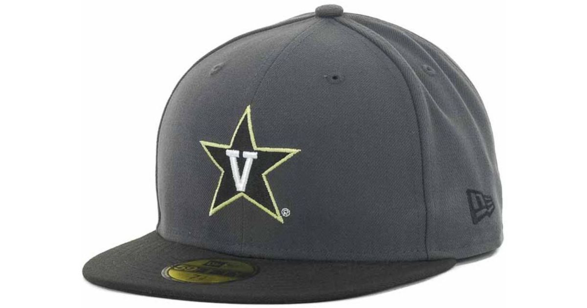 Lyst - KTZ Vanderbilt Commodores 2-Tone Graphite And Team Color 59Fifty Cap  in Black for Men a952219726e