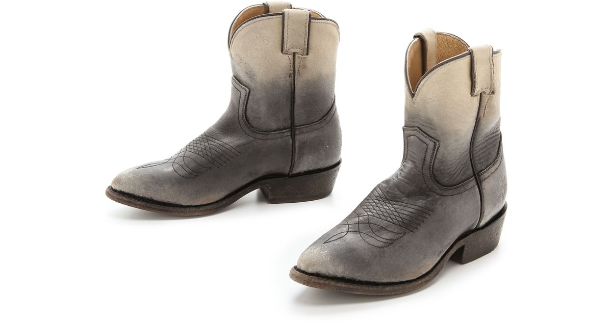 bf77c302448aee Lyst - Frye Billy Short Booties - Stone in Gray
