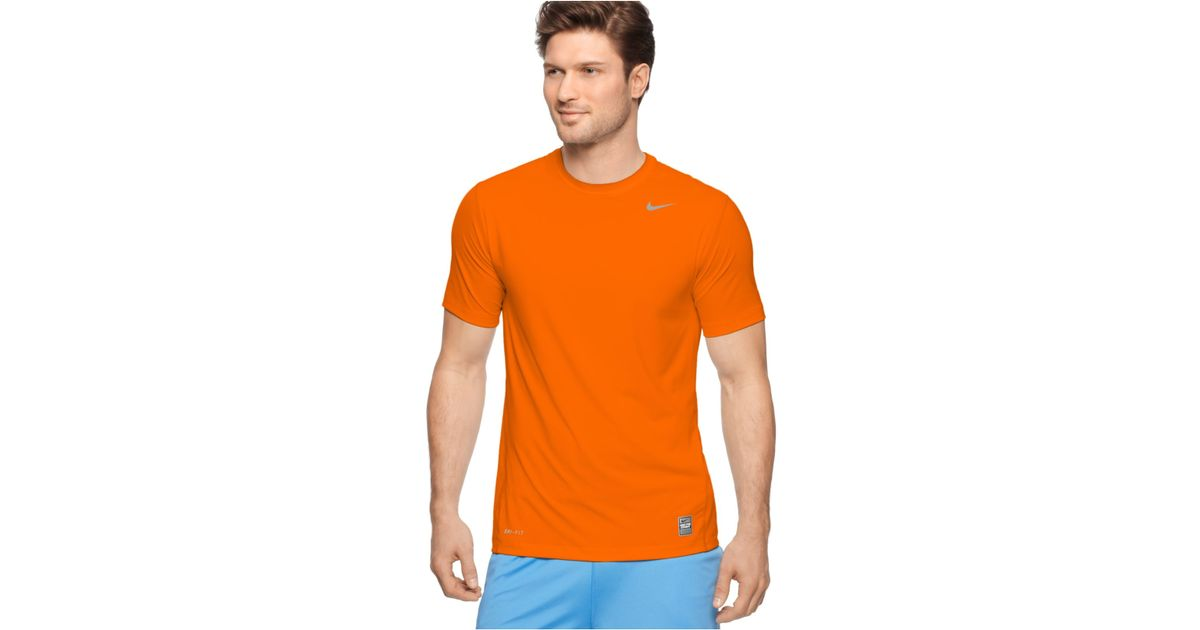 126e4e5625eb Lyst - Nike Pro Combat Dri-fit T-shirts in Orange for Men