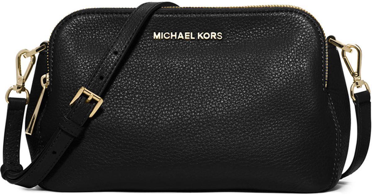 4a0f822881dbd1 where can i buy lyst michael michael kors bedford medium double zip  messenger bag in black