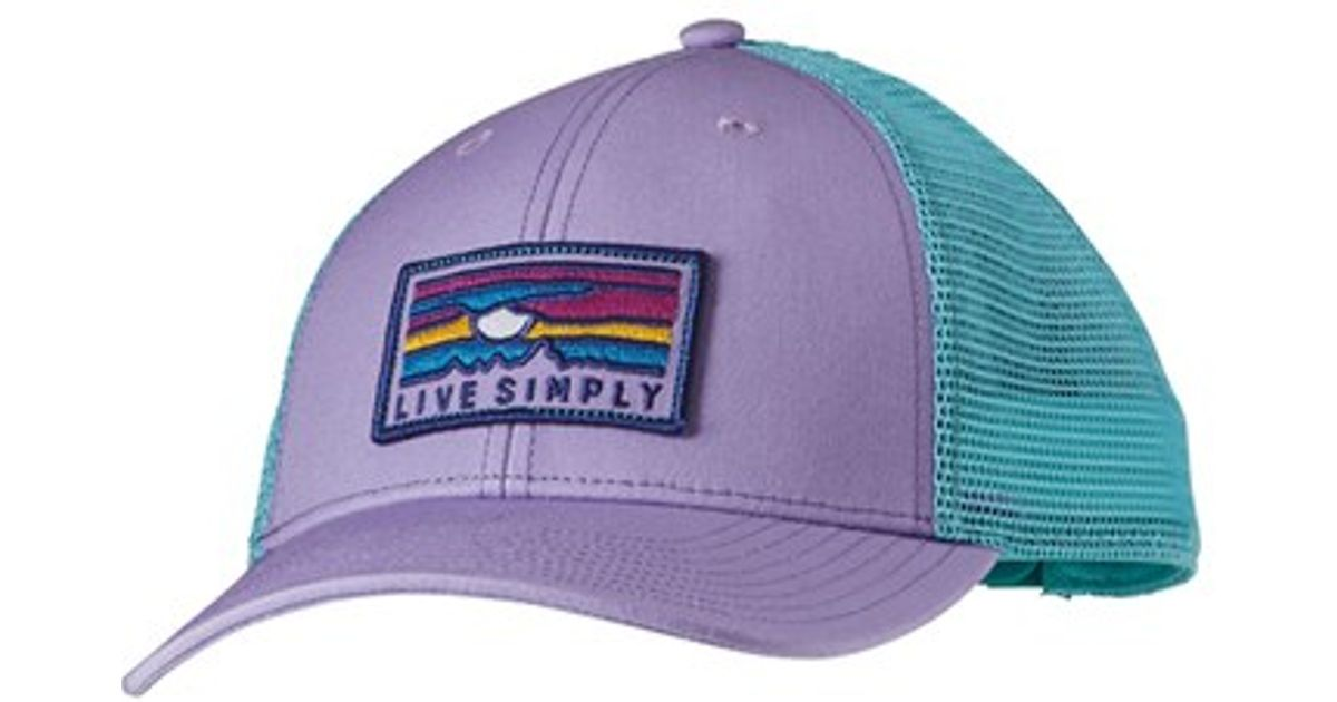 Lyst - Patagonia  live Simply  Sunset Pattern Trucker Hat - Purple in Purple 55e0a1d3469