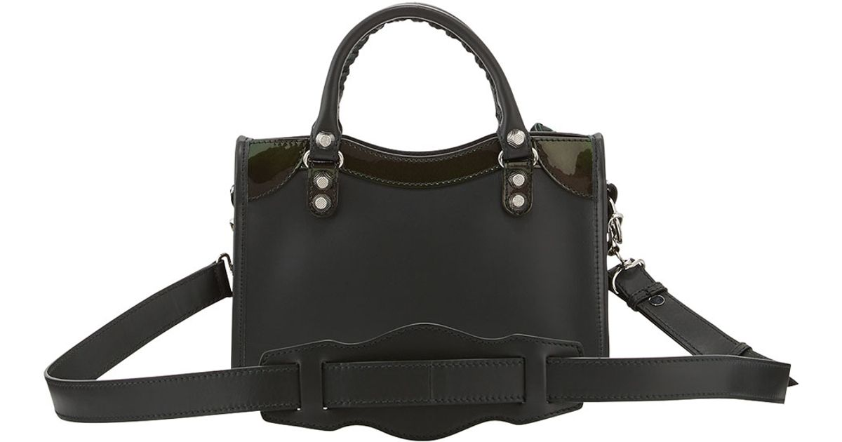 Lyst - Balenciaga Giant 12 Nickel City Leather Mini Bag in Black fdf9e0c6a9c37
