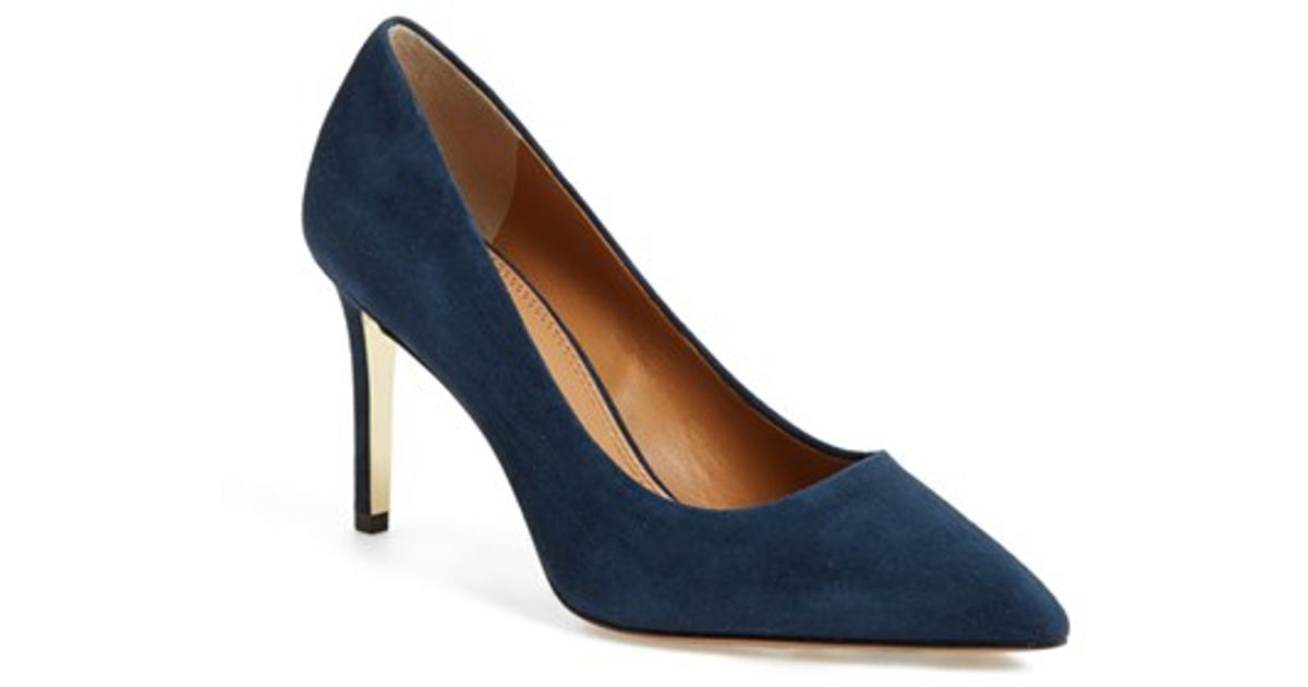9e405be6c25 Lyst - Tory Burch Elana Suede Pumps in Blue
