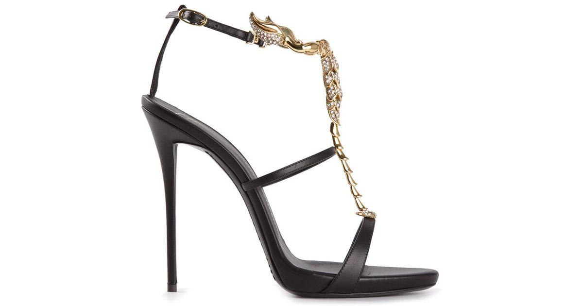 Giuseppe Zanotti T Lyst Sandals Bar Scorpion Black 80OnwvmN