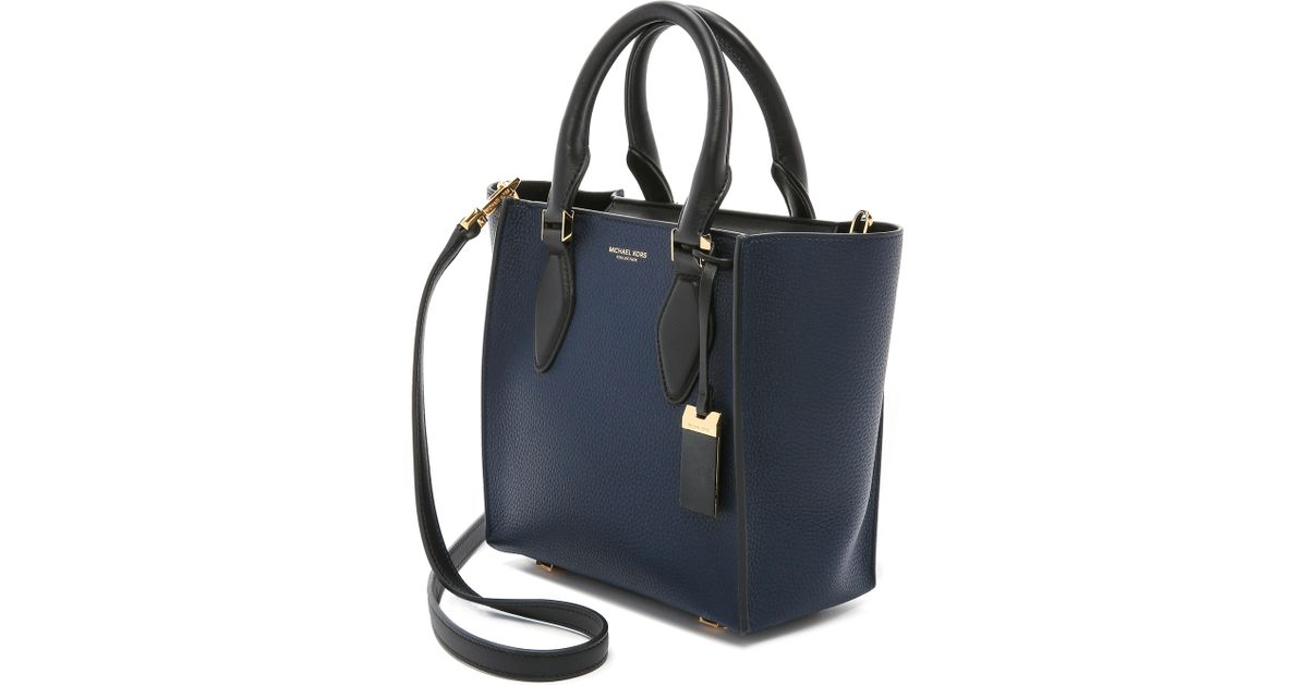 ceb133a99bca Michael Kors Gracie Small Tote - Navy/black in Blue - Lyst