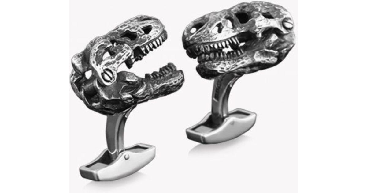 Tateossian Sterling Silver T-Rex Cuff Links gMI3TsA