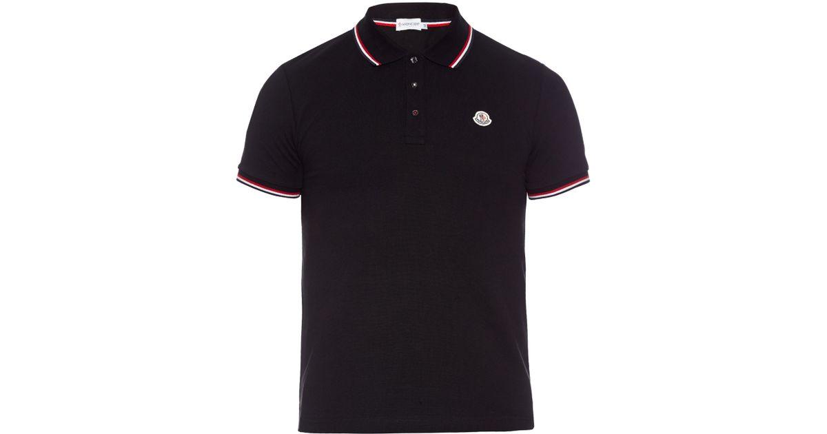 black moncler polo