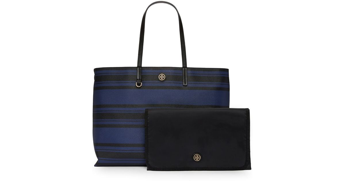 3311b2a2caf6 Lyst - Tory Burch Kerrington Square Tote Baby Bag in Black